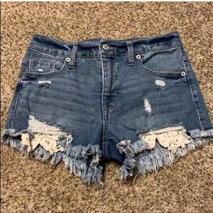 Mossimo High Waisted Jean Shorts